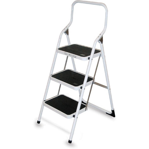 Brico 3-Step Steel Ladder - White