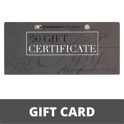 Sandman Hotel Group $50 Gift Certificate