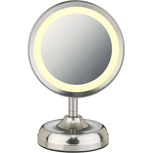 Conair Lighted Satin Nickel Double Sided Mirror